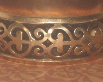 Vintage Brass Cutout  Bracelet