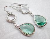 Green Parasolite Silver G...