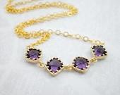 Purple Amethyst Gold Fill...