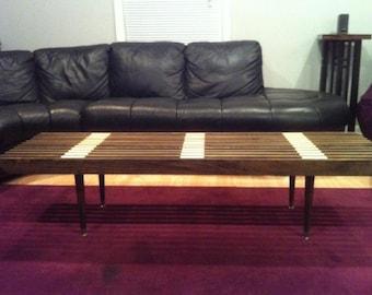 Poplar with Maple Slat table/bench