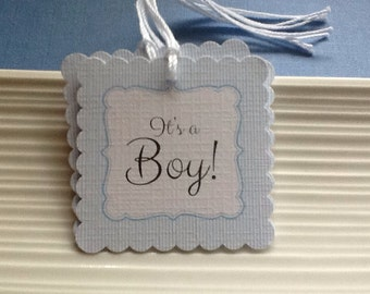 It's a Boy / Baby Boy / Baby Shower favor tags / set of 12
