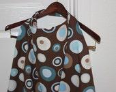 Nursing Cover - Blue, Aqua and Brown Circles