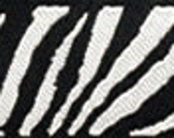 "Black and White ZEBRA PRINT Reversible Ribbon - 5/8"""