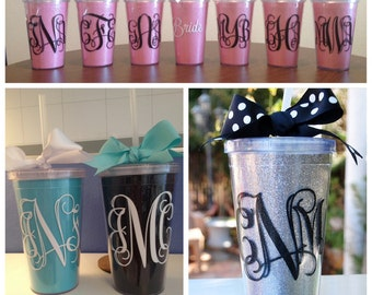 Monogrammed tumbler (with changable inserts)