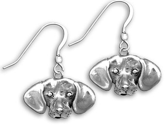 Sterling Silver Beagle Earrings