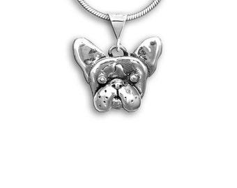 Silver French Bulldog Pendant