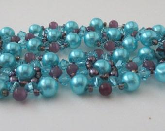 Bead and crystal bracelet - Beadweaved