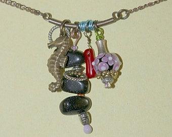 Seahorse Coral Necklace