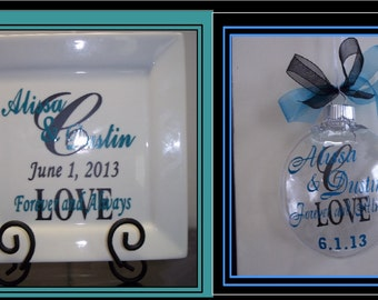 Personalized Wedding Plate & Ornament