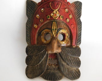 Lisu tribe of Thailand Hand carved wooden mask