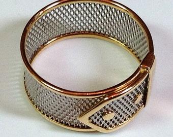 18k PLATINUM ETERNITY RING - Fully Hallmarked Stamped Solid Yellow Gold & Platinum- Superb Fine Estate Band