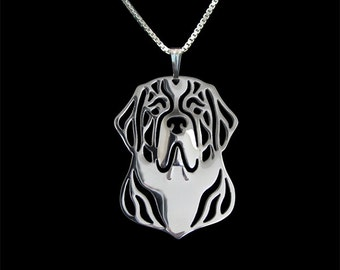 St. Bernard jewelry - sterling silver pendant and necklace