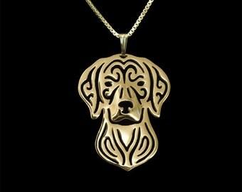 Vizsla jewelry - Gold pendant and necklace