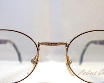 Circle Robert La Roche vintage  design eyeglasses - metal frames design temples - For women made in the 1980s