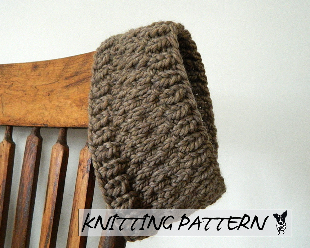 Winter Headband Knitting Pattern Knitted Headband PDF