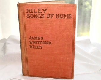 "James Whitcomb Riley ""Songs of Home"" American writer and  poet 1849-1916"