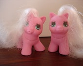My Little Pony teeny baby pony twins Sniffles & Snookums vintage