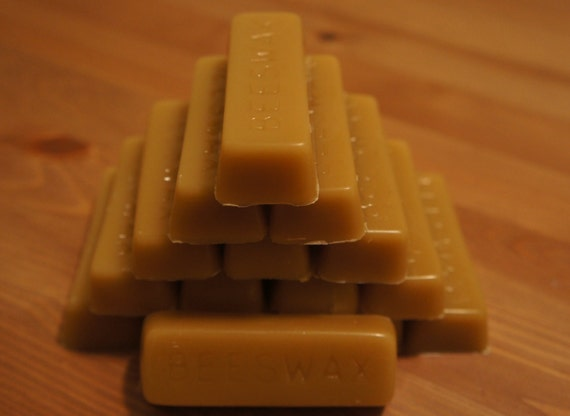 1 Oz Pure Beeswax Bar Locally Harvested