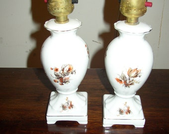 vintage,antique,pair,victorian,lamps,czechoslovakia,november,1938,never used,rare