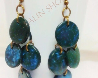 Buy 3 Free 1,blue earring ,cheap earring,coconut shell earring,women earring