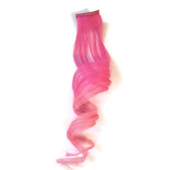 Pale Pink Human Hair Extensions 6