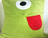 Pyjama-Holding Monster Pillow Cover
