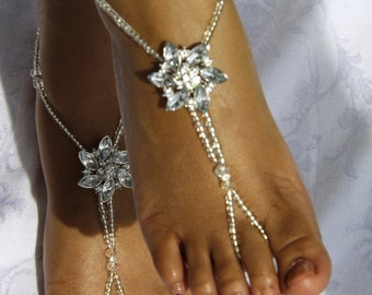 Wedding Barefoot Sandals Destination Wedding Foot Jewelry Beach Wedding Barefoot Sandals