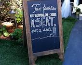 Large Double-Sided A-Board Chalkboard Easel Sidewalk Sign A-Frame for Wedding, Seating Chart, Menu Specials, Coffee Bar Shop, Sandwich Board