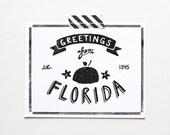 State of Florida Postcard, Screenprinted