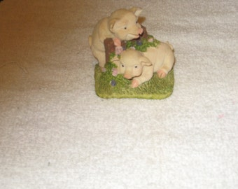 Collectible Ceramic Baby Pigs