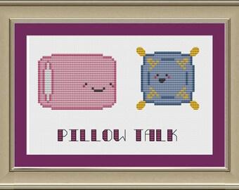 Pillow talk: funny cross-stitch pattern