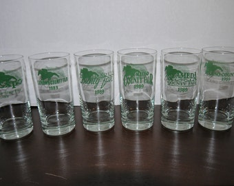 Watch and Wager County Fair Glasses 1989