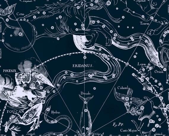 Star map Zodiac horoscope Constellation 90 by AstrologyZodiac