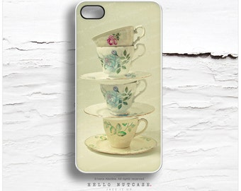 iPhone 6S Case, iPhone 5C Case Teacups, iPhone 5s Case Floral, iPhone 4s Case, Tea iPhone Case, Cups iPhone 6S Plus Case, iPhone Cover V13
