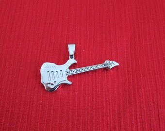 Stainless Steel Guitar Pendant