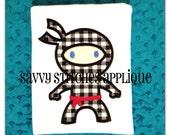Ninja Machine Embroidery Applique Design