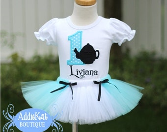 PERSONALIZED Teapot Birthday Tutu Outfit