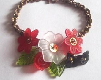 Clockwork Corsage Bracelet - Steampunk, Chain Maille