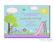 Park Party Invitations Park Birthday Party Invitations Playground Birthday party invitations Printable Download within 24 hours