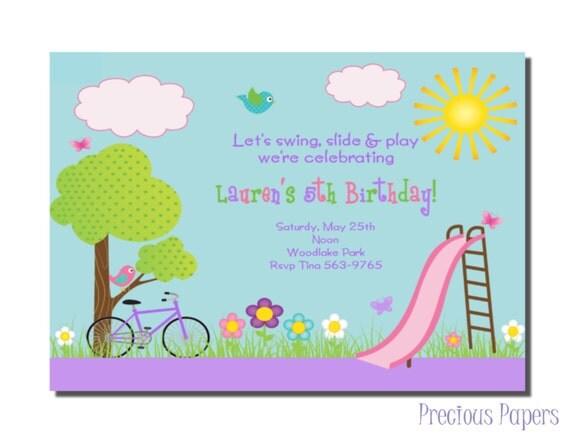 Park Party Invitations Park Birthday Party Invitations – Park Birthday Invitations