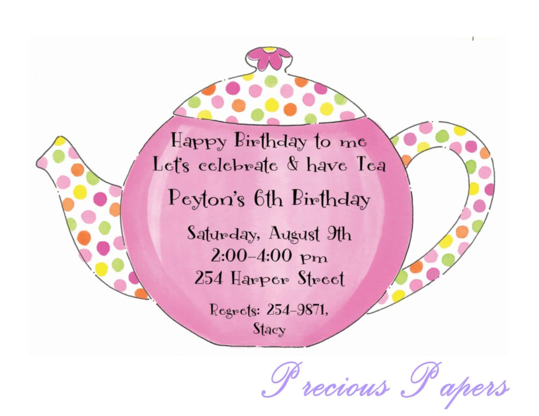 Teapot Invitations as luxury invitations example