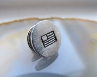 Personalized Tie Tack Gift for Him Tie Tac Groomsmen Gifts Wedding Gift Monogrammed Tie Tack
