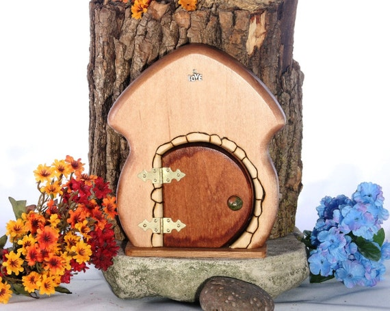 Fairy garden or tooth fairy door with secret by fairyhillworks for Secret fairy doors by blingderella