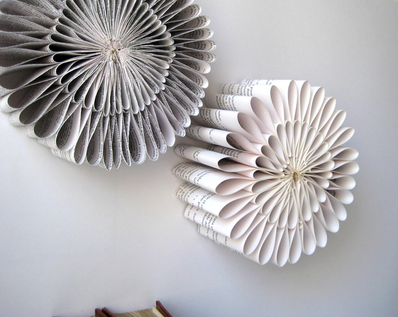 Paper sculpture round folded book origami