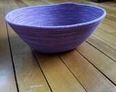 Purple Sewn Rope Basket - Oval