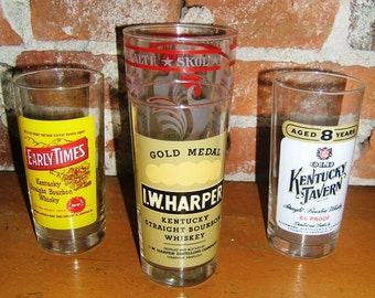 "Barware ""Mad Men"" Style Whiskey Glasses and Mixing Glass."