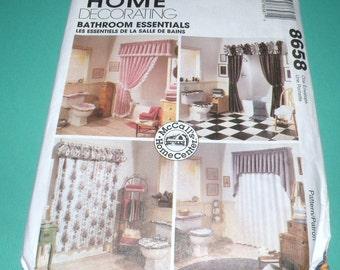 McCalls 8658 Home Decorating Bathroom Essentials Complete and Uncut