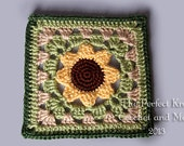 PDF Crochet Pattern File - Sweetpea's Sunflower Square