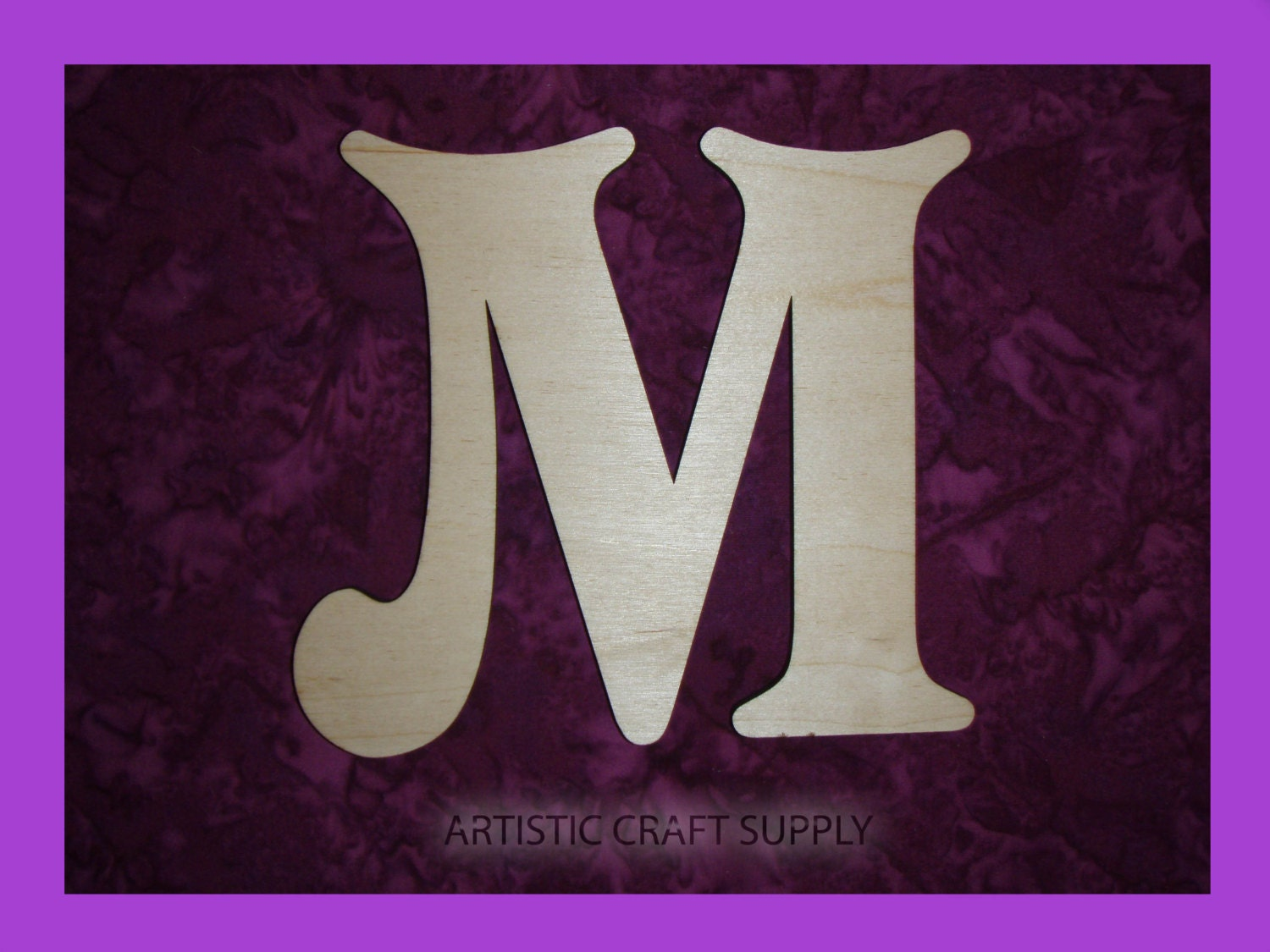 unfinished wood letter m wooden letters 6 inch tall. Black Bedroom Furniture Sets. Home Design Ideas
