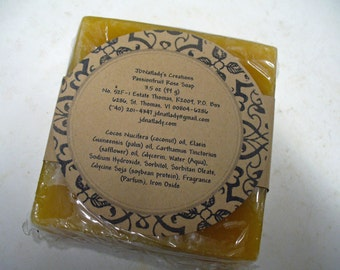 Passionfruit Soap - Handcrafted Glycerin Soap - Yellow Soap - Square -Scented Soap - Passionfruit Rose Soap